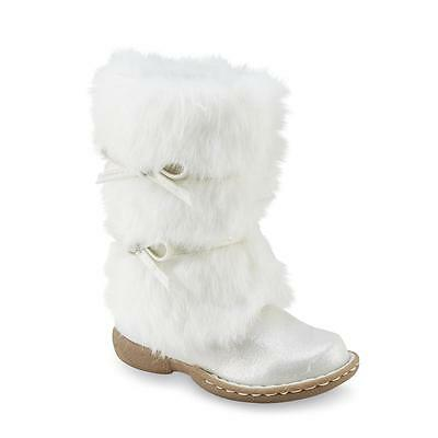 Piper Rachelle White Faux Fur Boots Girls Toddler Sizes 6, 7, 8, 10 New