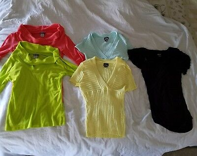 Dots brand lot of 5 ladies Tops shirts sweaters size S M yellow blue green black