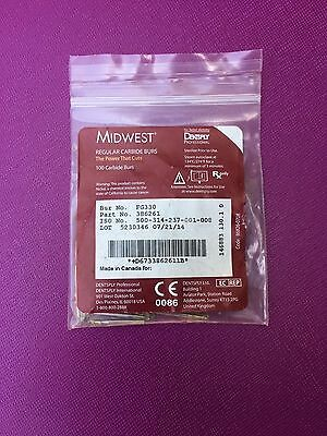 Dental Midwest Carbide Burs FG 330 , Friction Grip (100 burs) in a box 386261