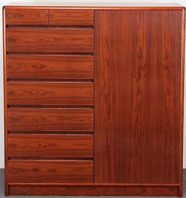 Danish Rosewood Armoire, Gentleman's Chest, Torring, Skoby, Dyrlund Style