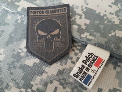 "SNAKE PATCH "" POITOU CHARENTES "" punisher BASSE VISIBILITE OD REGION scratch"