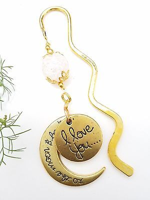 ❤️ Lesezeichen * Gold * Muttertag * Geschenkidee * Love you to the moon ❤️ C