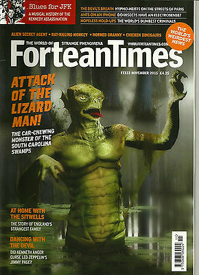 Fortean Times 333 November 2015 Attack of the Lizard Man!