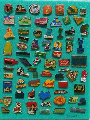 Lot de 60 pin's publicitaires divers sans attaches - ( 70.007 )