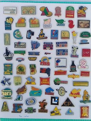 Lot de 70 pin's publicitaires divers sans attaches - ( 70.020 )