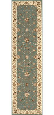 STUNNING FORMAL CLASSIC DESIGN RUG RUNNER BLUE 80x400cm **FREE DELIVERY**