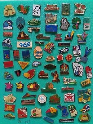 Lot de 75 pin's publicitaires divers sans attaches - ( 75.005 )