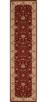 STUNNING FORMAL CLASSIC DESIGN RUG RUNNER RED 80x300cm **FREE DELIVERY**