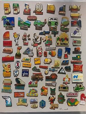 Lot de 85 pin's publicitaires divers sans attaches - ( 85.009 )