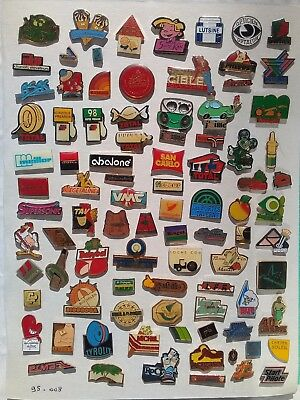 Lot de 95 pin's publicitaires divers sans attaches - ( 95.008 )