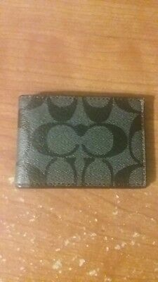 coach card holder mens, brand new, never been used