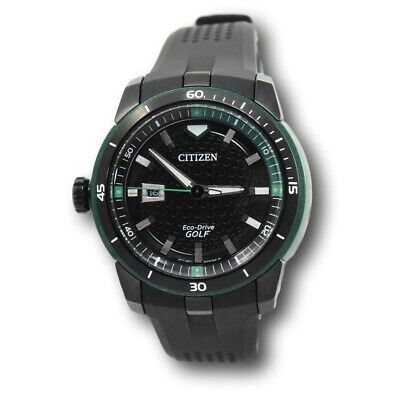 Citizen Men's Eco Drive AW1505-03E Ecosphere Black Stainless Golf Watch