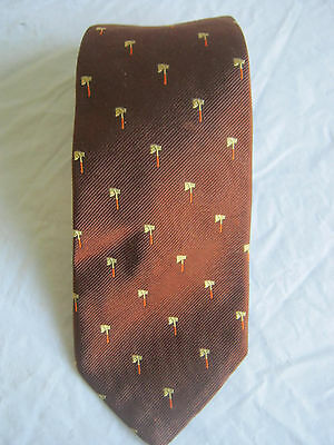 Vintage Brooks Brothers Makers Black Label Neckwear Tie Brown Tomahawk