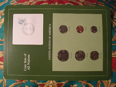 Coin Sets of All Nations United States w/card 1979 - 1991 50 Cent 1989 UNC