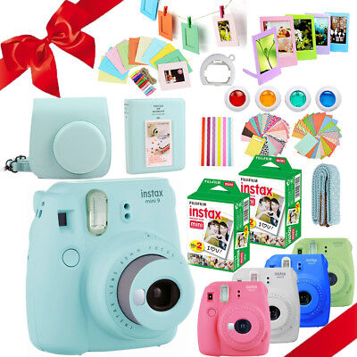 Fujifilm Instax Mini 9 Camera + 40 Sheets Instant Film + Bag + Album + Gift Set