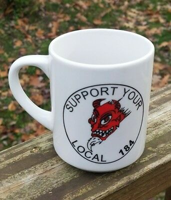 Red Devils MC Support Your Local 184 M Ware Coffee Mug