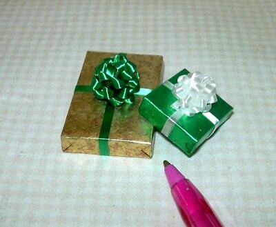 Miniature Pair (Set of 2) Christmas Present Gifts, SET #30: DOLLHOUSE 1/12