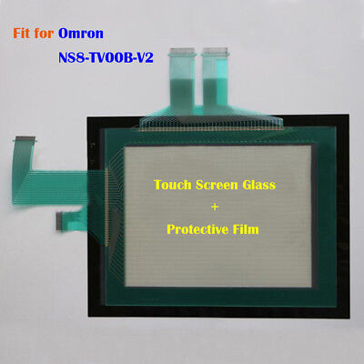 for Omron NS8-TV00B-V2, NS8TV00BV2 Touch Screen Glass + Protective Film New