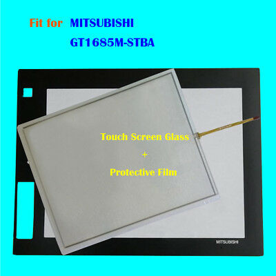for MITSUBISHI GT1685M-STBA,GT1685MSTBA Touch Screen Glass + Protective Film New