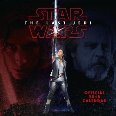 Star Wars: Episode 8 VIII The Last Jedi Official 2018 Square Wall Calendar NEW