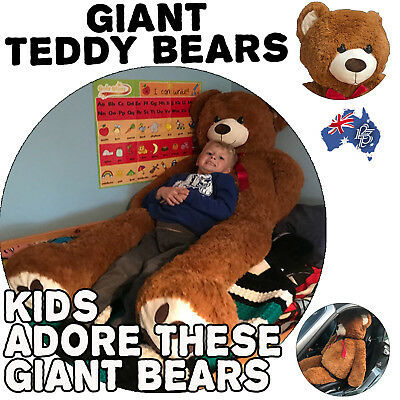Giant Brown Teddy Bear Soft Massive Huge Kids child toy Christmas gift present