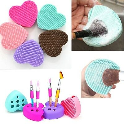Silicone Makeup Brush Cleaner Pad Washing Scrubber Board Hand Cleaning Mat BEST