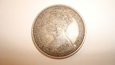 U.K. Britain 1871 MDCCCLXXI Silver Florin Victoria - You Grade It (#Fq42)