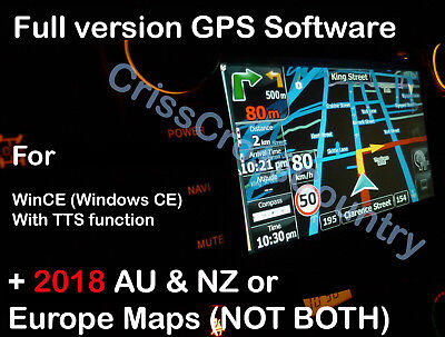 iGO9 GPS Sat Navi SOFTWARE with TTS +2017Q3 AUSTRALIA/NZ maps for WINCE download