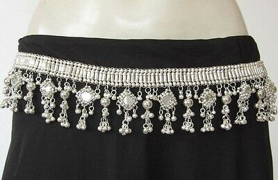 Womens Fashion Sash BELT Mirror Silver plated Metal Beads Handcrafted Boho Gypsy