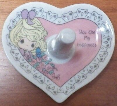 """Precious Moments Porcelain Ring Holder """"You Are My Happiness"""" 1997 Enesco EUC"""