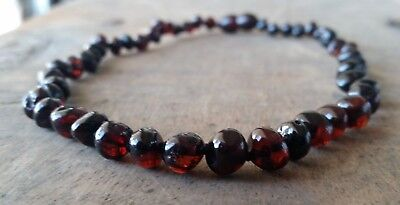 Genuine Baltic Amber Child Necklace - CHERRY - Jewellery Beads FREE POST