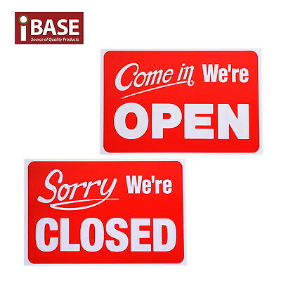 Open Closed Sign Office Business Shop Door Restaurant Reversible Window Hanging