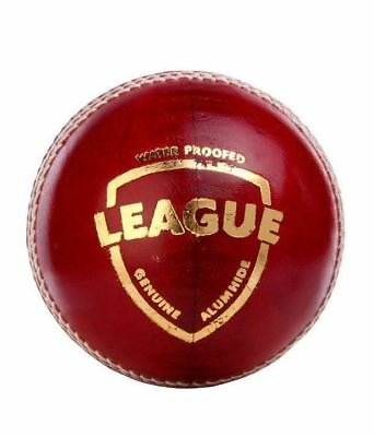SG League 4 Piece RED LEATHER Cricket Ball 1/2/3/6/12 + AUS Stock + FREE SHIP