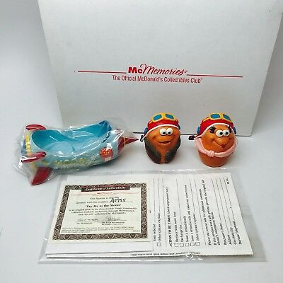 1998 McMemories McDonald's McNugget Buddies Fry Me To The Moon Figurines Rocket