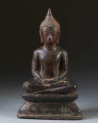 Fine Thailand Thai Ayutthaya Ayuthia Bronze Figure of Buddha ca. 14-16th c.