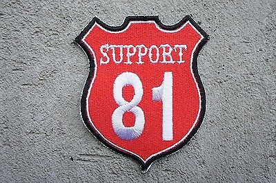 SUPPORT 81 Red White MC Angels 666 Hells vest patch Outlaw Biker 1% NEW