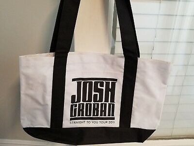 Josh Groban Canvas Totebag Bag Tour 2011 Straight to You Tote Never Used No Tag