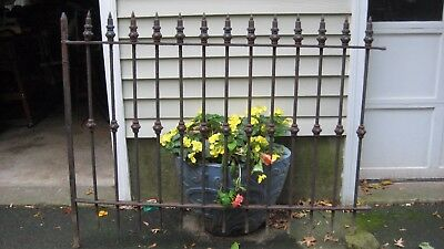 Antique Wrought  Iron Garden Fence from the 1800's  5'++by 50+inches high