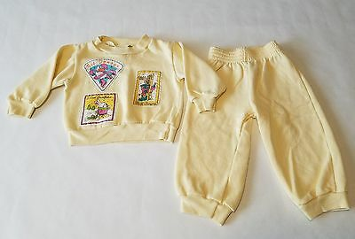 Vintage 80s Penny Pals Toddler 2 Piece Outfit Sweatshirt and Sweat Pants Sz 2T