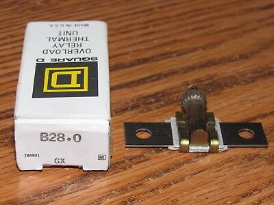 Square D B28.0 Overload Relay Thermal Heater Unit Brand New NOS