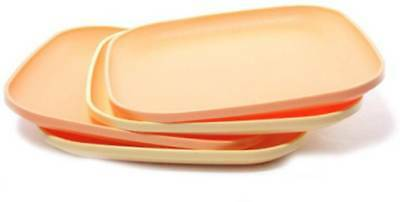 Tupperware Luncheon snack Plates (Pack of 4), free shipping worldwide