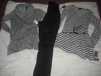 Womens Maternity NWT Oh Baby by Motherhood Lot 3 Pants Tops Size M Retail  130