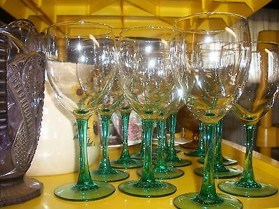 Cristal D'Arques Courtyard Turquoise Set of 12 Water Goblets -mint