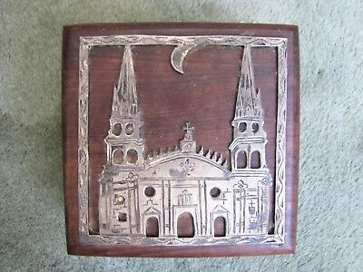 Vintage Mexican Sterling ? or Silver Plated Church Storage Box.
