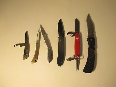 Lot of 6 used mixed brand pocket knives Knife Used