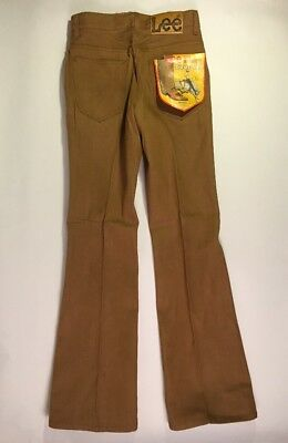 NOS VTG BROWN Denim Lee Rider Boot Cut Flare16S 26/31 Jeans DEADSTOCK NWT