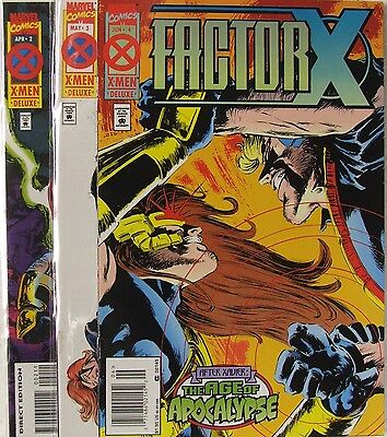 """Marvel Comics Factor X lot of 3 books.  """"After Xavier-Age of Apocalypse"""""""