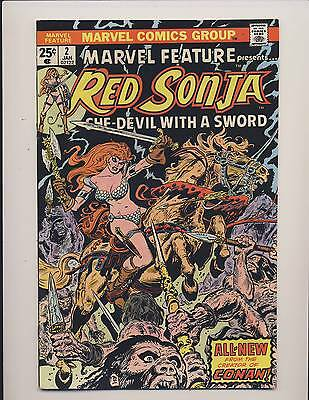 Marvel Feature (Red Sonja) #2 #3 #4 #6 & #7 Mixed Grades 1976 Lot Of Five (5)