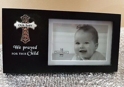 We prayed for this child frame. Regal Cross Frame - Our Baby - baby photo insert