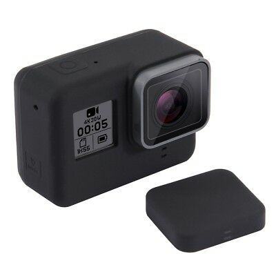 GoPro Hero 6 5 Housing Silicone case with Lens Cover Black Rubber Cap Skin Soft